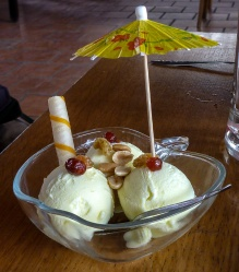 Durian Ice Cream - Mekong River, Vietnam