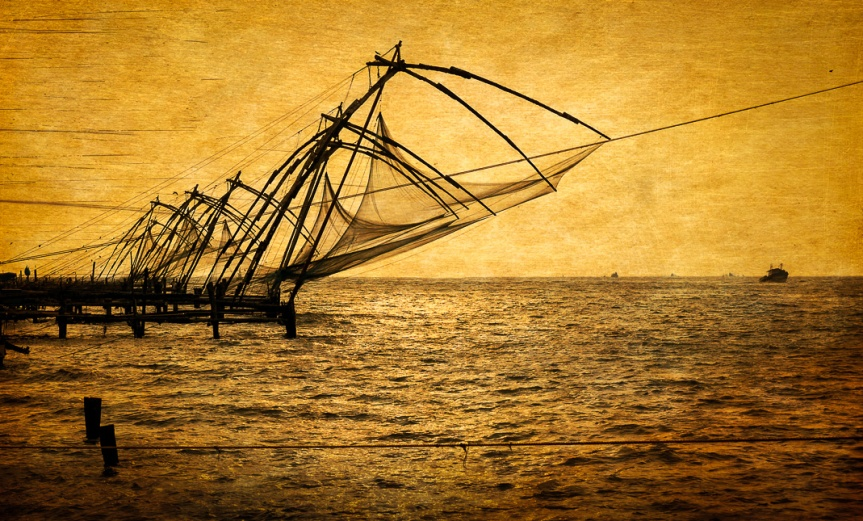 Chinese Fish Nets, Kerla, India