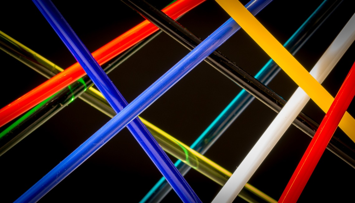 Abstract with Glass Rods