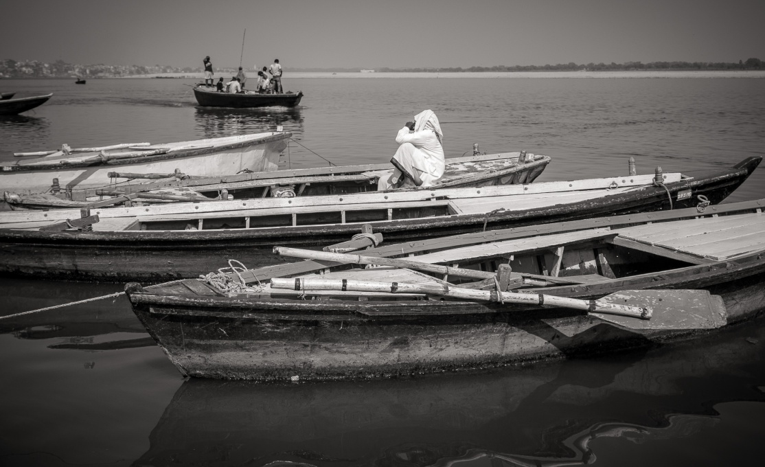 Boats on the Ganges, Varanasai